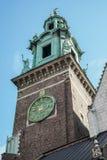 KRAKOW, POLAND/EUROPE - SEPTEMBER 19 : Sigismund Tower and Clock Royalty Free Stock Photo