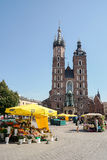 KRAKOW, POLAND/EUROPE - SEPTEMBER 19 : St Marys Basilica in Krak Royalty Free Stock Photography