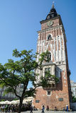 KRAKOW, POLAND/EUROPE - SEPTEMBER 19 : Town Hall Tower Market Sq Royalty Free Stock Images
