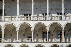 KRAKOW, POLAND/EUROPE - SEPTEMBER 19 : Wawel Royal Castlel in Kr Royalty Free Stock Photography