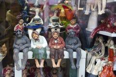 Figurines in a souvenir shop Stock Image