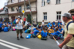 KRAKOW, POLAND - JUL 31, 2016: Unidentified participants of Worl Stock Photos