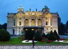 KRAKOW,POLAND - 9-22-2017: The Juliusz Slowacki Theater in Krako Stock Photos