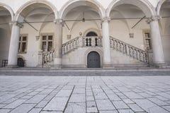 Castle architecture, Wawel Castle, Krakow, Poland Stock Photo