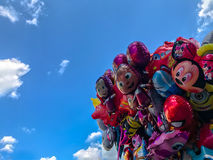 Balloons, popular cartoons close-up in Cracow Stock Image