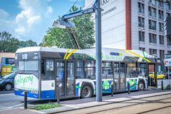 Electric bus Solaris Urbino 12 royalty free stock photos