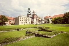Wawel Royal Castle, Krakow, Poland, Europe Stock Photo