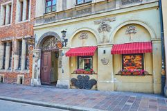 Historical buildings in old Krakow, Poland royalty free stock image