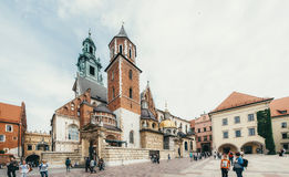 KRAKOW, POLAND - JUNE 27, 2015: Royal Archcathedral Basilica of Stock Image