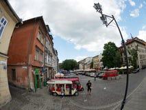 Krakow, Poland - June 17, 2016: Szeroka Street of Krakow's Jewis Stock Photo