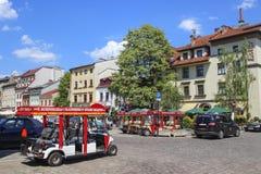 KRAKOW,POLAND - Kazimierz, former jewish quarter of Stock Image