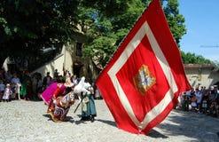 Krakow, Poland: Lajkonik Procession royalty free stock image