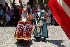 Krakow, Poland: Lajkonik Procession royalty free stock photography