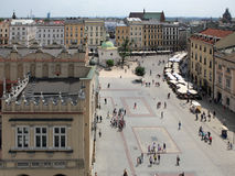 Krakow, Poland. Looking to the central square Stock Photo