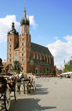 Krakow, Poland - main market square Royalty Free Stock Photos