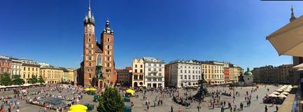 Krakow, Poland - Main market square Royalty Free Stock Photo
