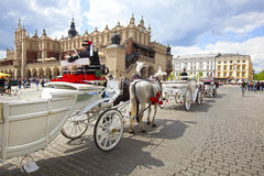KRAKOW, POLAND, Main Square Royalty Free Stock Photography