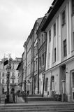 Krakow, Poland. Maly Rynek in black and White. Cracow Krakow, Poland, winter 2016. Maly Rynek Little Town Square in black and white Stock Photo