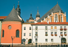 Krakow, Poland: Maly Rynek Old Market Square Royalty Free Stock Photos