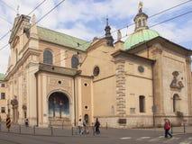 KRAKOW, POLAND - March 29, 2015: The Carmelite Church in Krakow, Royalty Free Stock Photos
