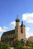 Krakow, Poland - Mariacki Church Stock Photos