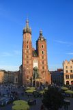Krakow Poland - Mariacki Church stock photos