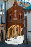 Czartoryski Museum in old town of Krakow, Poland. Old town of Cracow listed as unesco heritage site. Krakow, Poland - May 28, 2017: Czartoryski Museum in old royalty free stock photography