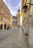 Krakow, Poland, street in Old Town royalty free stock photo