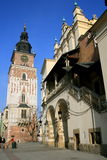 Krakow, Poland old city. City Hall tower in the old city of Krakow, Poland Stock Photography