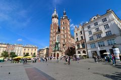 Krakow, Poland, Old Town stock image