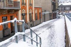 KRAKOW, POLAND  One of the streets of Kazimierz, former jewish quarter. Royalty Free Stock Photo
