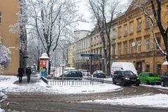 KRAKOW, POLAND - One of the streets of Kazimierz  quarter Royalty Free Stock Photography
