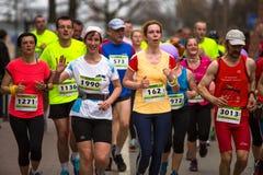 KRAKOW, POLAND - participants during the annual Krakow international Marathon. Stock Photography