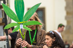 KRAKOW, POLAND - participants of the March For Cannabis Liberation. Stock Photography