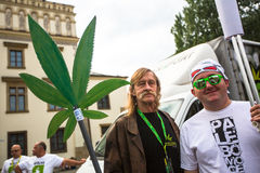 KRAKOW, POLAND - participants of the March For Cannabis Liberation. stock image