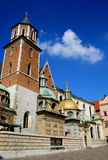 Krakow, Poland - Royal Cathedral. On the Wawel Hill Royalty Free Stock Photo