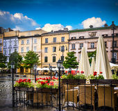Krakow - Poland's historic center Stock Images