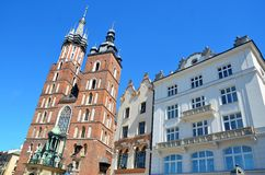 Krakow in Poland, Saint Mary basilica Royalty Free Stock Photos