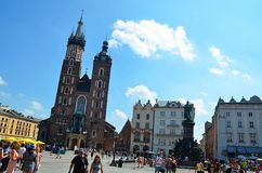 Krakow in Poland, Saint Mary basilica Royalty Free Stock Image