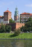 Wawel Royal Castle, view from the side of the Wisla river, Krakow, Poland stock photos