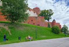 Wawel Royal Castle, Krakow, Poland stock images