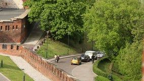 KRAKOW, POLAND -  On-site Wawel Royal Castle. stock footage
