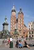 krakow poland sommartid Royaltyfri Fotografi