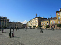 Krakow. Poland, the square of Ghetto Heroes Royalty Free Stock Photo
