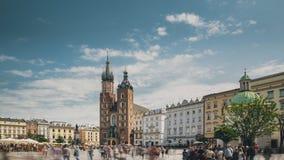krakow Poland St Mary bazylika i płótno sali budynek Sławny stary punktu zwrotnego kościół nasz dama zakładająca w niebo zbiory