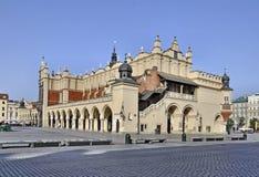 krakow poland sukiennice royaltyfri foto