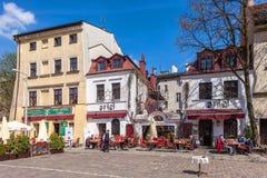 Krakow - Poland. Szeroka street, jewish district Kazimierz Royalty Free Stock Photo