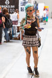 KRAKOW, POLAND -  Unidentified participants at 10-th International Tattoo Convention in Congress-EXPO Center Royalty Free Stock Photography