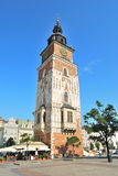 Krakow. Old Town Hall Tower Stock Images
