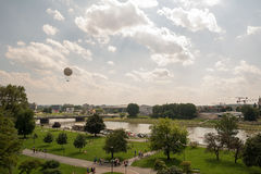 Krakow (Poland). View from the castle Wawel on river Wisla (Krakow, Poland Stock Image